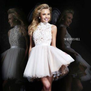 Sherri Hill White Lace Dress Style 21345 Size 6